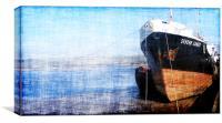 Boat waiting to sail, Canvas Print