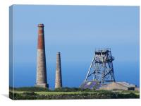 Levant mines Cornwall, Canvas Print
