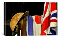 Helmet and Flag, Canvas Print