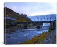 Rhayader Dam, Canvas Print