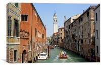 Venice Canal, Canvas Print