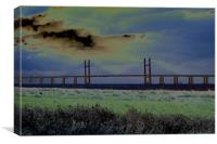 New Severn crossing, Canvas Print