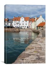 Pittenweem harbour, Fife., Canvas Print