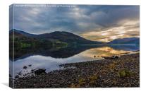 Sunset on Loch Earn, Canvas Print