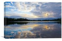 Sunset over Balgavies Loch, Forfar, Angus, Canvas Print