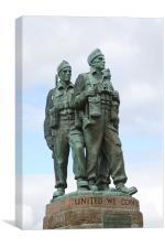Spean Bridge Commando Memorial, Canvas Print