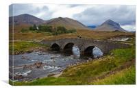 Bridge at Sligachan, Skye, Canvas Print