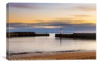 Dusk at Anstruther Harbour, Canvas Print