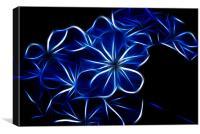 Electric Blue, Canvas Print
