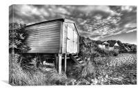 Hunstanton beach-hut, Canvas Print