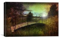 Bridge to the Meadow, Canvas Print