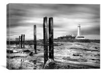 St. Marys Lighthouse Whitley Bay, Canvas Print