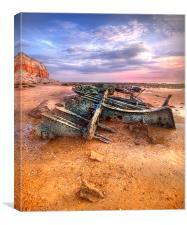 Shipwreck on Hunstanton Beach, Canvas Print