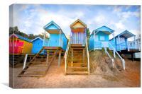 Wells-Next-The-Sea Beach Huts, Canvas Print