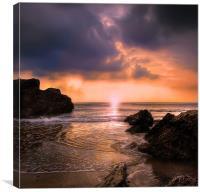 Cornish Sunrise, Canvas Print