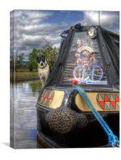 A Dogs Life Afloat, Canvas Print