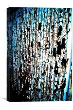 rusty metal wall, Canvas Print
