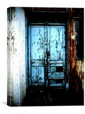 derelict door, Canvas Print