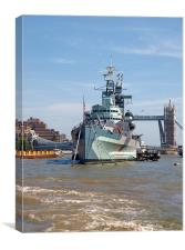 HMS Belfast The floating Naval Museum, Canvas Print