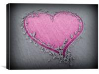 Pink Sand Heart, Canvas Print