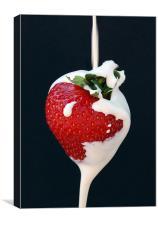 Strawberry & Cream, Canvas Print
