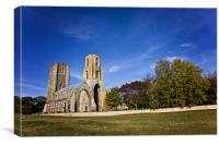 Wymondham Abbey in Autumn, Canvas Print