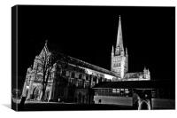 Stars over Norwich Cathedral, Canvas Print