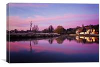 Dawn at Coltishall Common, Canvas Print