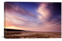 Last Light over Holkham Beach, Canvas Print