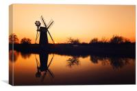 Reflecting Times on the Broads, Canvas Print
