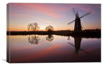 Norfolk Broads Reflections, Canvas Print