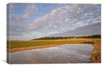 Reflective Times on Holkham Beach, Canvas Print