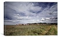 Big Skies over Cley Windmill, Canvas Print