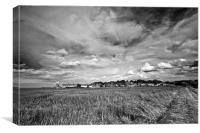 Big Skies over Cley Windmill Mono, Canvas Print