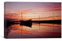 Fire in the Sky in Burnham Overy Staithe, Canvas Print