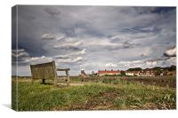 Seat with a View of Cley, Canvas Print