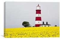 Happisburgh Lighthouse Golden Mist, Canvas Print