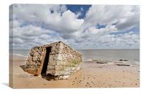 Beached Pillbox in Caister, Canvas Print