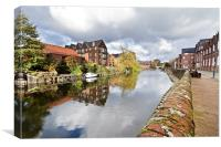 Norwich Reflections, Canvas Print