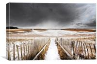 Winter Storm over Holkham, Canvas Print
