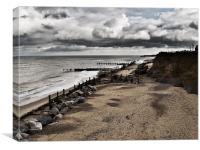 Happisburgh Sea Defences, Canvas Print