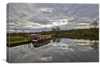 Canal Boat HDR, Canvas Print