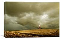 Happisburgh Lighthouse amongst the Clouds, Canvas Print