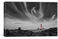 Wispy Clouds Above Happisburgh Lighthouse Selectiv, Canvas Print