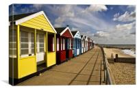 More Southwold Beach Huts, Canvas Print