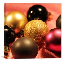 Miniature baubles, Canvas Print