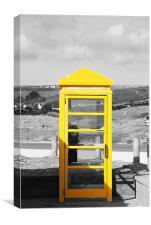 Yellow Jersey Phone box, Canvas Print