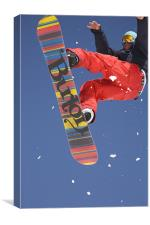 Snowboard jumping on Vogel mountain, Canvas Print