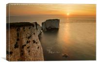 Sunrise Old Harry Rocks, Canvas Print