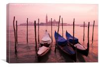 Venetian sunset, Canvas Print